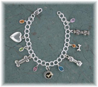 BWL46CB- Bowl with Bone Charm Bracelet